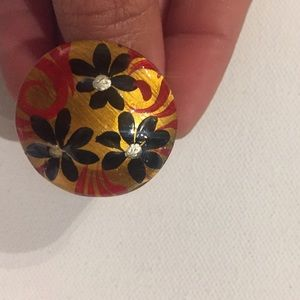 Jewelry - hand painted ring wood
